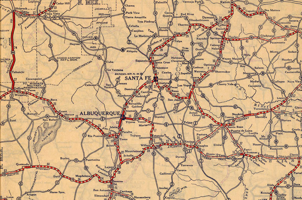 Map Of Route In New Mexico NewMexicoImagePast - Original route 66 map